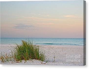Canvas Print featuring the photograph A Calm  Evening View by Joan McArthur