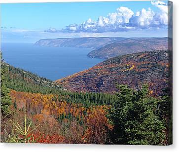 A Cape Breton Autumn Canvas Print by George Cousins