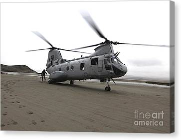 A Ch-46 Sea Knight Helicopter Canvas Print by Stocktrek Images