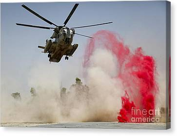 A Ch-53d Sea Stallion Helicopter Canvas Print
