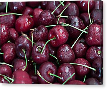Canvas Print featuring the photograph A Cherry Bunch by Sherry Hallemeier