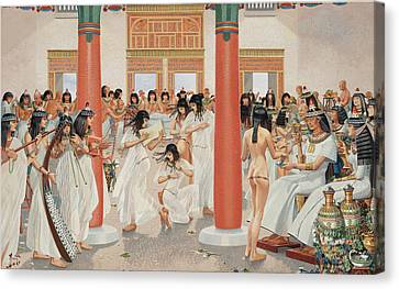 A Chief Priest Gives A Formal Banquet Canvas Print by H.M. Herget