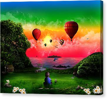 A Childs View Canvas Print