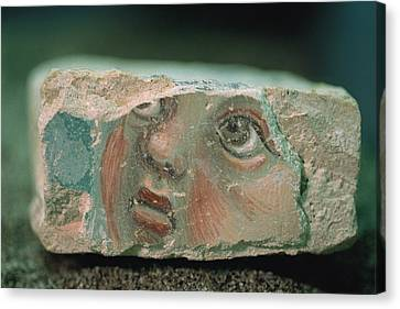 A Chunk Of Fresco About Six Inches Wide Canvas Print