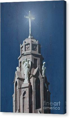A Church Tower Canvas Print by Donna Greene