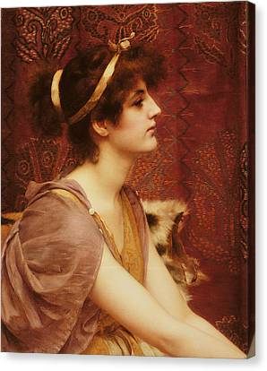 A Classical Beauty Canvas Print by John William Godward