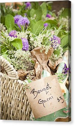 A Close View Of Cooking Herbs Canvas Print by Taylor S. Kennedy