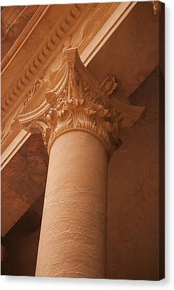 A Close View Of The Carving Of A Pillar Canvas Print by Taylor S. Kennedy