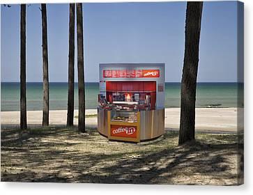 A Coffee Bar And Drinks Kiosk Canvas Print by Jaak Nilson