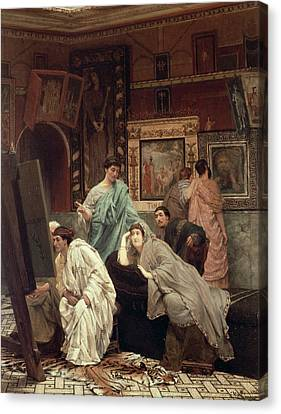 A Collector Of Pictures At The Time Of Augustus Canvas Print