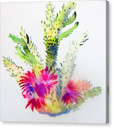 Arizonia Canvas Print - A Colorful Cactus by Mindy Newman
