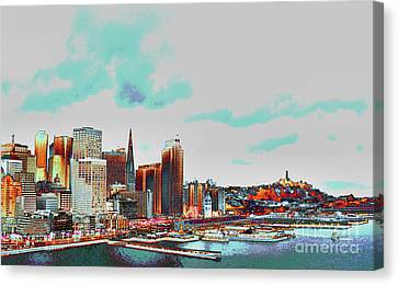 A Colorful San Francisco Canvas Print