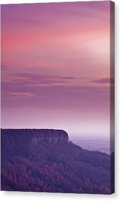 A Colourful Sunset Over Sutton Bank Canvas Print by Julian Elliott Ethereal Light