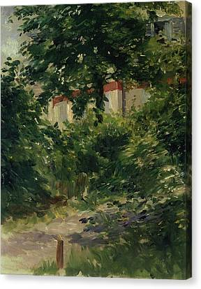 A Corner Of The Garden In Rueil Canvas Print by Edouard Manet