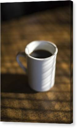 A Cup Of Coffee At A Diner Canvas Print by John Burcham
