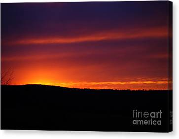 Canvas Print featuring the photograph A Day Almost Ended by Julie Clements