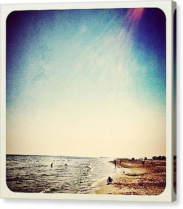 A Day At The #beach 2 Months Ago Canvas Print by Wilbert Claessens
