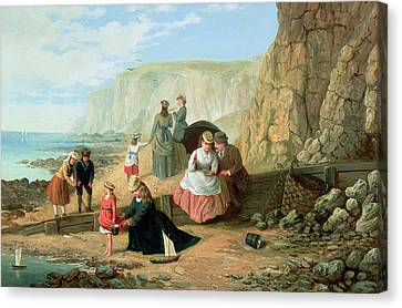 Toy Boat Canvas Print - A Day At The Seaside by William Scott
