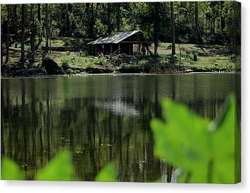 A Day By The Lake Canvas Print by Bobby Martin