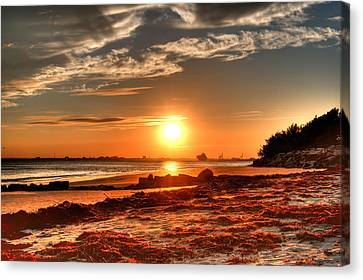 A Day Ends Over Charleston Canvas Print by Andrew Crispi