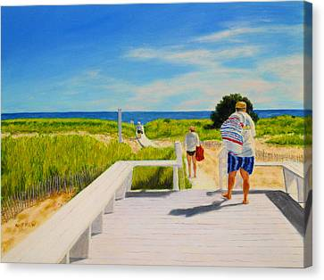 A Day For The Beach Canvas Print