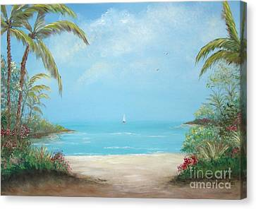 A Day In The Tropics Canvas Print by Leea Baltes