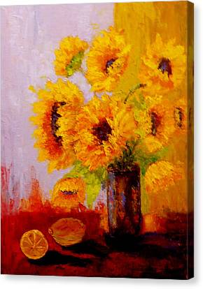 A Day Of Sushine Canvas Print by Marie Hamby