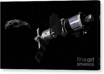 A Deep Space Mission Vehicle Canvas Print by Walter Myers