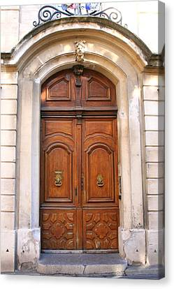 Canvas Print featuring the photograph A Door In Arles by Laurel Talabere