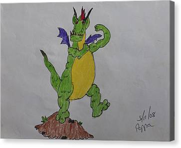 A Dragon Cartoon Character Canvas Print by Swabby Soileau