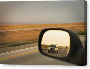 A Drivers View Of The Car Canvas Print