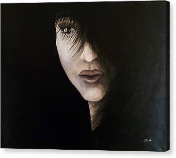 A Face In The Shadows  Canvas Print
