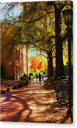 A Fall Day On Campus Canvas Print