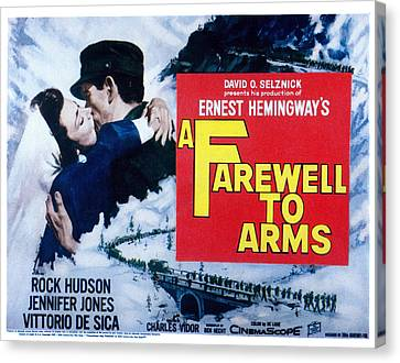 A Farewell To Arms, Jennifer Jones Canvas Print
