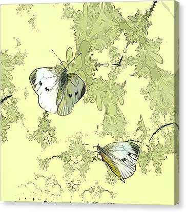 A Feuilles Vertes  Canvas Print by Sharon Lisa Clarke