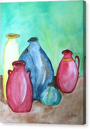 Canvas Print featuring the painting A Few Good Pitchers by Alethea McKee