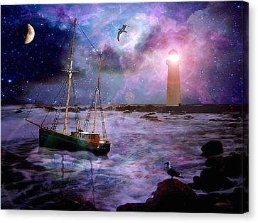 A Fishermans Tale Canvas Print by Susie  Hawkins