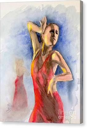 A Flamenco Dancer  2 Canvas Print