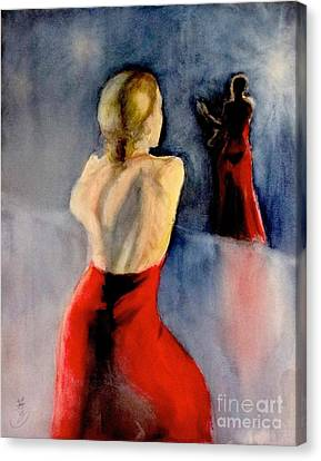 A Flamenco Dancer  3 Canvas Print