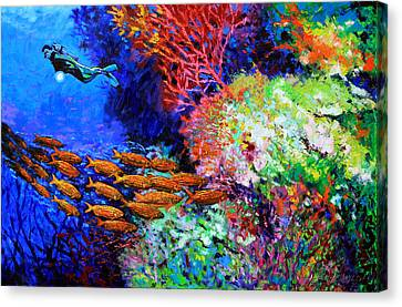 A Flash Of Life And Color Canvas Print by John Lautermilch