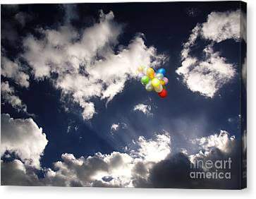 Canvas Print featuring the digital art A Flight From Drama by Rosa Cobos