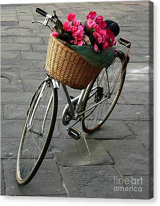 A Flower Delivery Canvas Print by Vivian Christopher