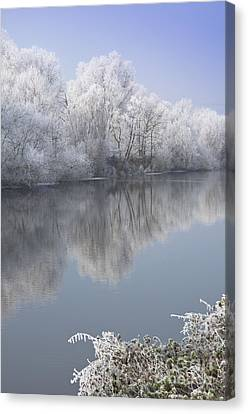 A Frosty River Severn Canvas Print by Andrew  Michael
