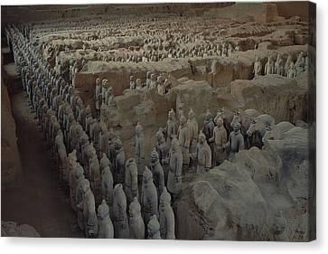 A Garrison Of Some 1,400 Terracotta Canvas Print