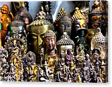 A Gathering Of Buddhas Canvas Print by Edward Myers