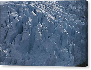 A Glacier Icefall From The Cordillera Canvas Print by Gordon Wiltsie