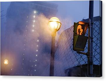 A Globe-shaped Fixture In Torontos Canvas Print by Jim Richardson
