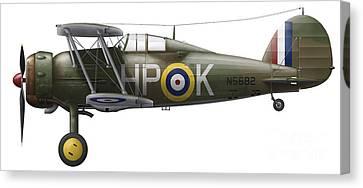 A Gloster Gladiator Mk II Canvas Print by Chris Sandham-Bailey