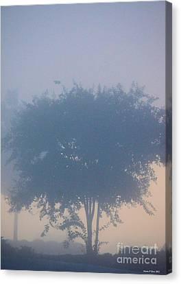 A Gothic Silhouette Canvas Print by Maria Urso
