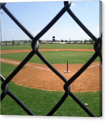 A Great Day For Tball #sports #diamond Canvas Print by Kel Hill